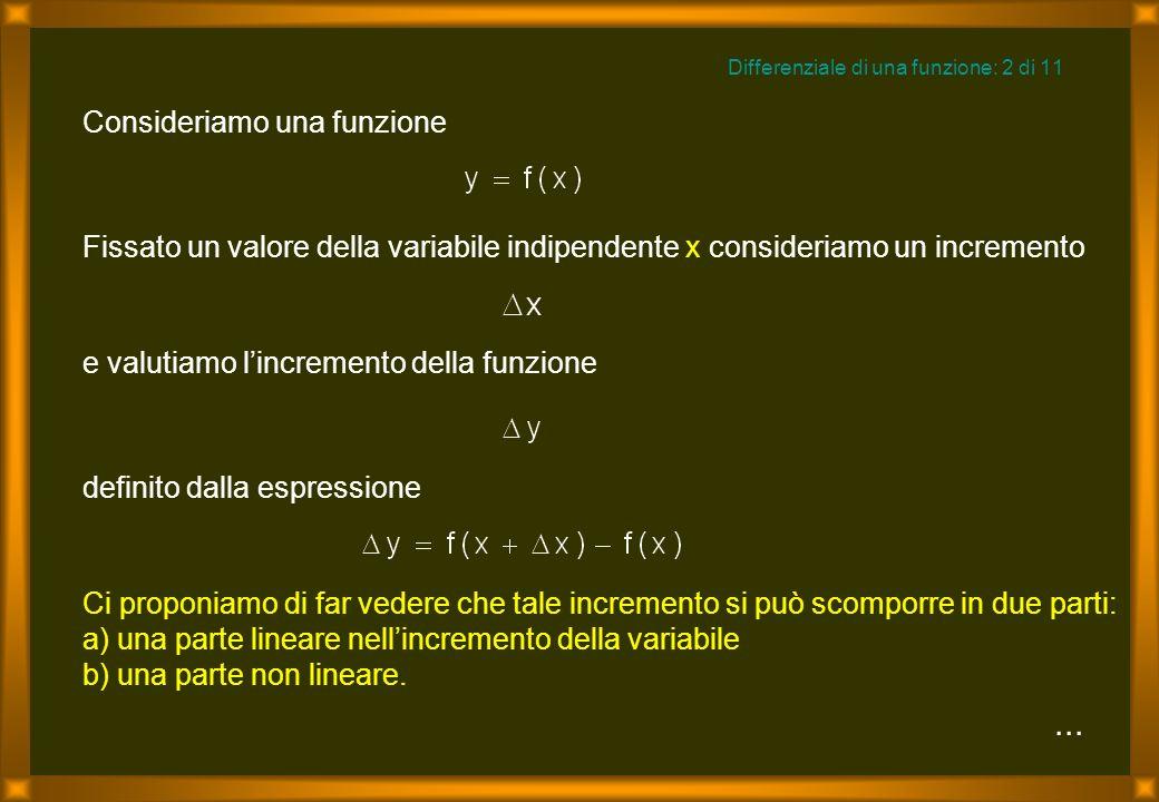 Differenziale di una funzione: 2 di 11