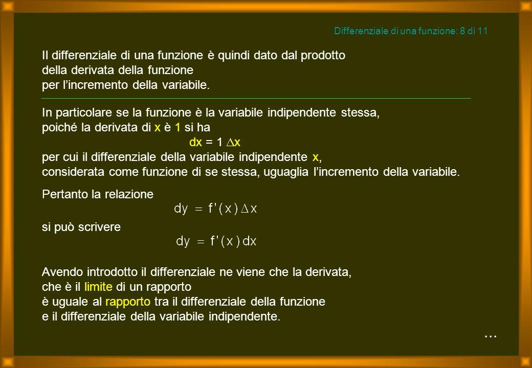 Differenziale di una funzione: 8 di 11