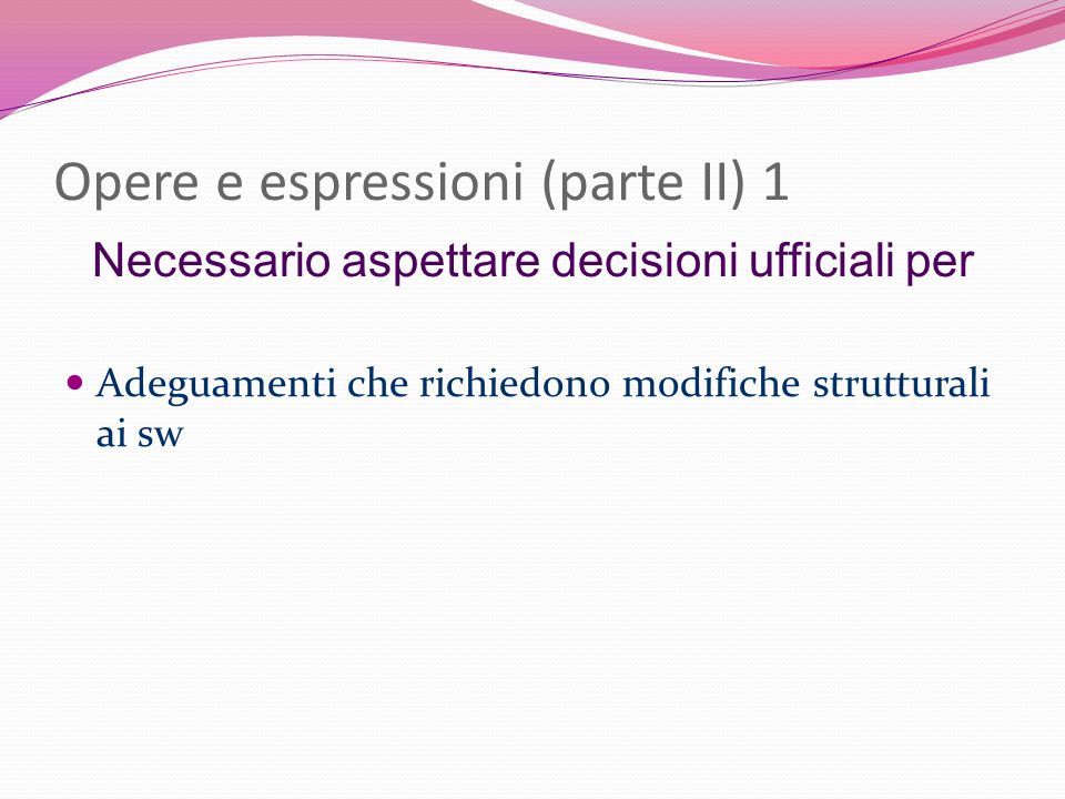 Opere e espressioni (parte II) 1