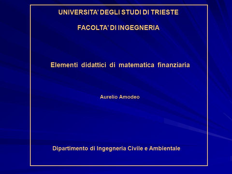 UNIVERSITA' DEGLI STUDI DI TRIESTE FACOLTA' DI INGEGNERIA