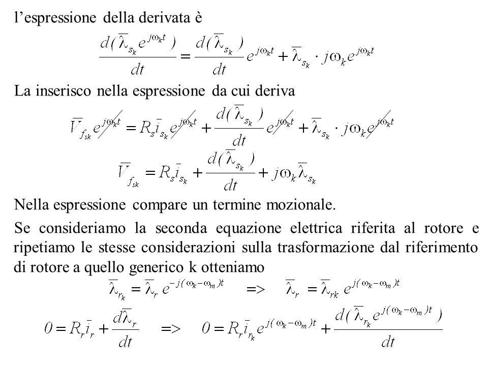 l'espressione della derivata è
