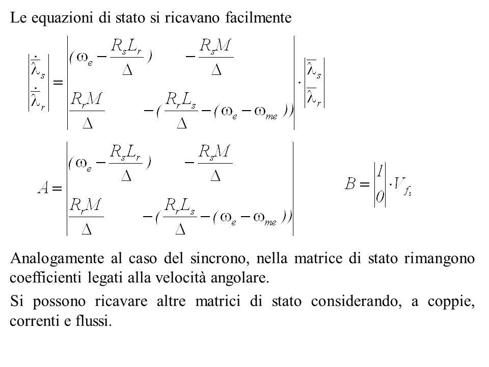 Le equazioni di stato si ricavano facilmente