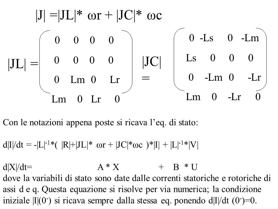 |J| =|JL|* ωr + |JC|* ωc |JC| = |JL| = 0 -Ls 0 -Lm 0 0 0 0 Ls 0 0 0