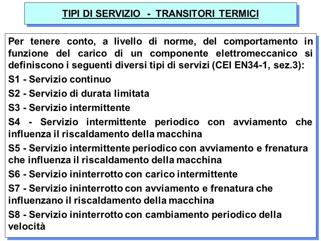 TIPI DI SERVIZIO - TRANSITORI TERMICI