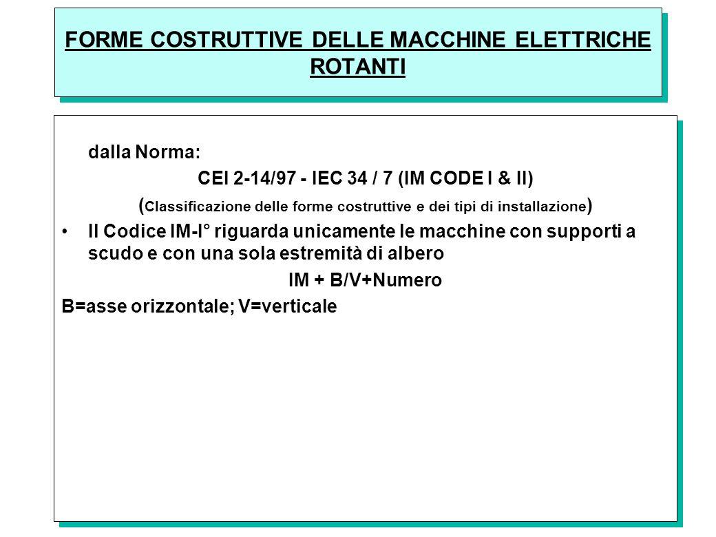 FORME COSTRUTTIVE DELLE MACCHINE ELETTRICHE ROTANTI