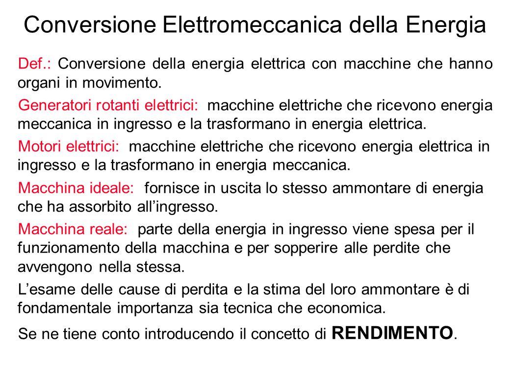 Conversione Elettromeccanica della Energia