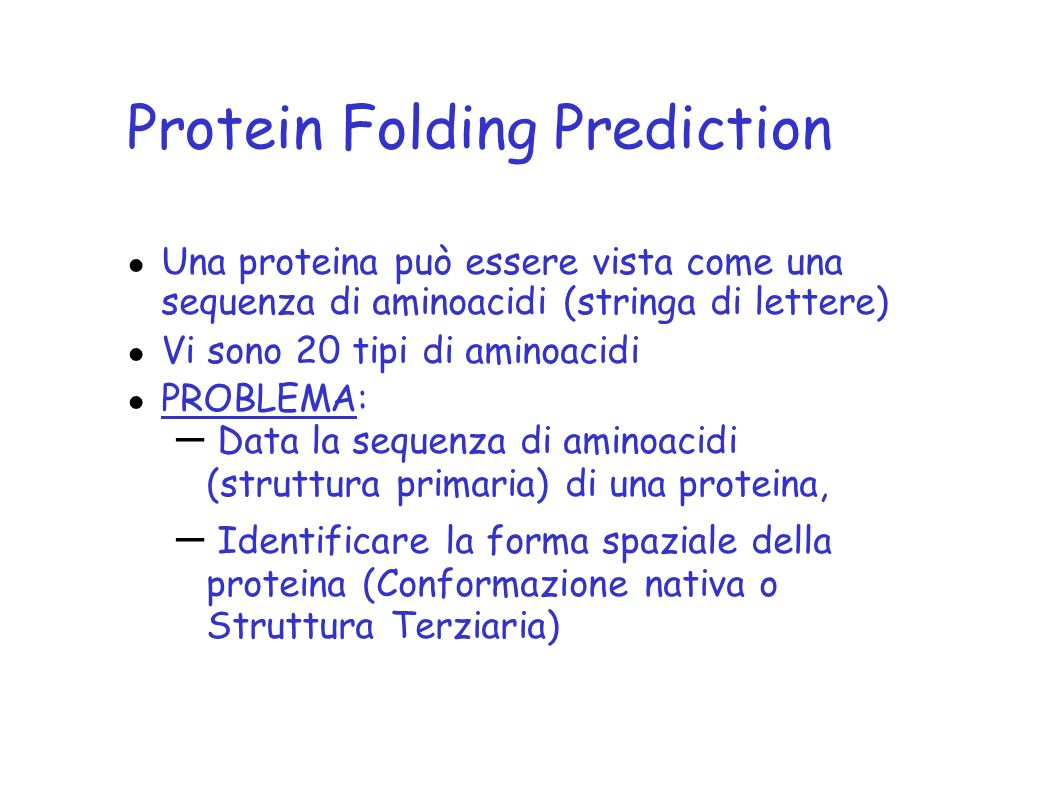 Protein Folding Prediction