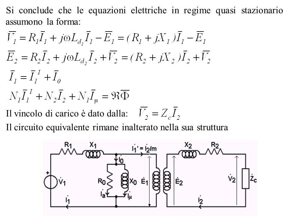 Si conclude che le equazioni elettriche in regime quasi stazionario assumono la forma: