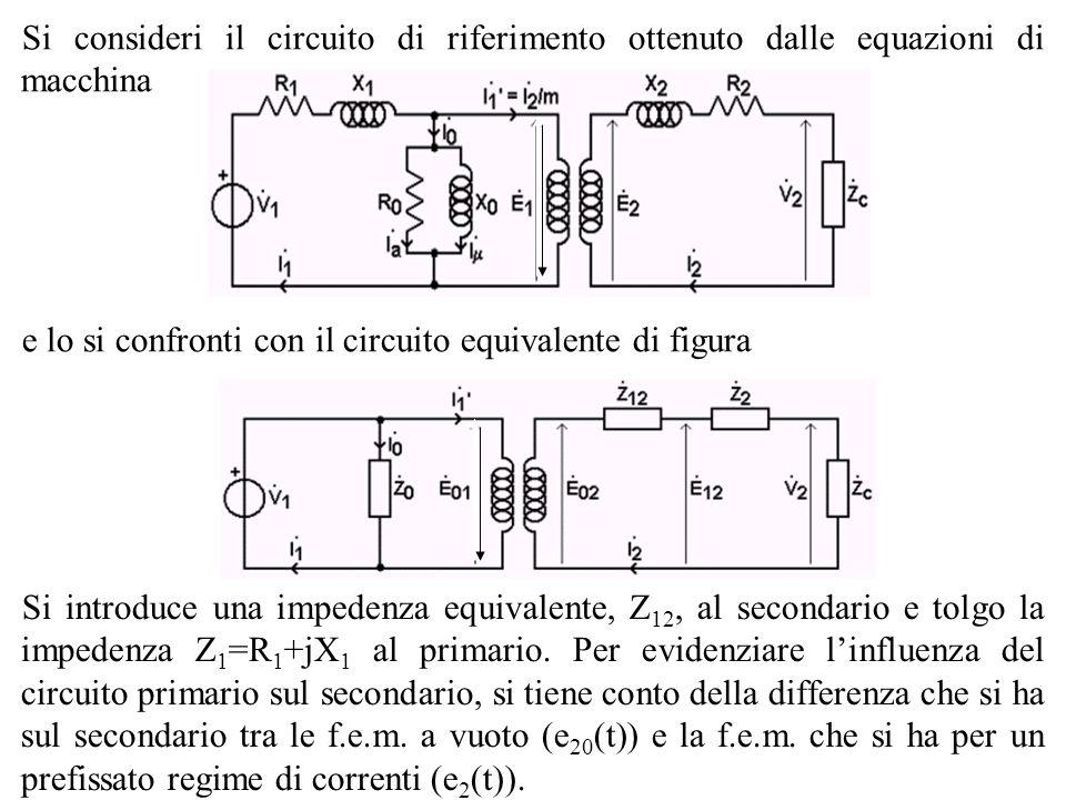 Si consideri il circuito di riferimento ottenuto dalle equazioni di macchina