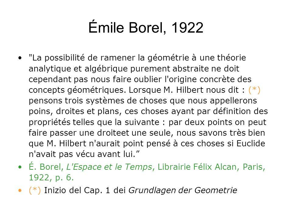 Émile Borel, 1922