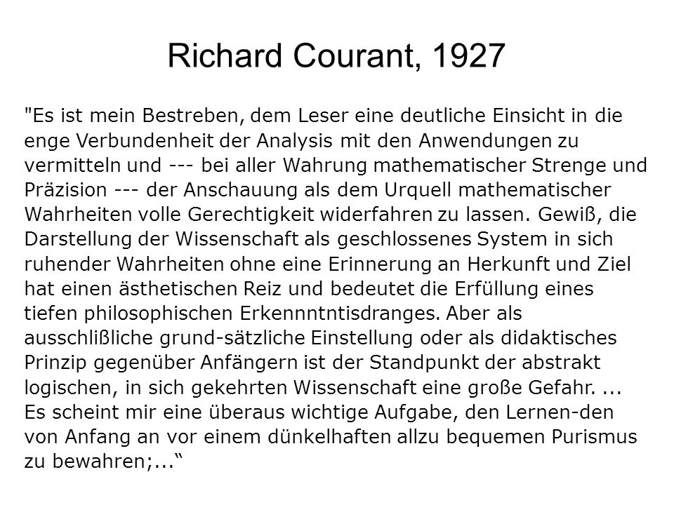 Richard Courant, 1927