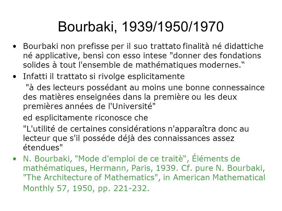Bourbaki, 1939/1950/1970