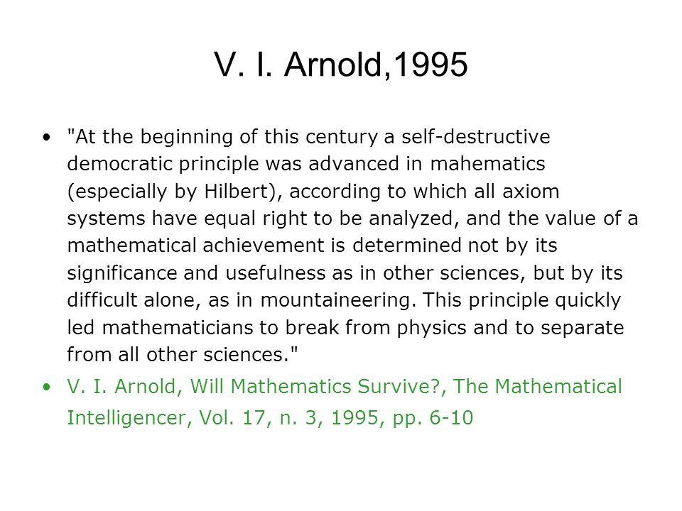 V. I. Arnold,1995