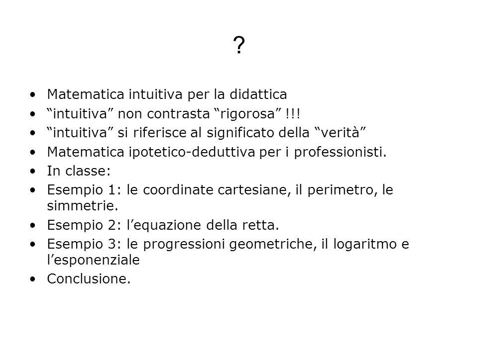 Matematica intuitiva per la didattica