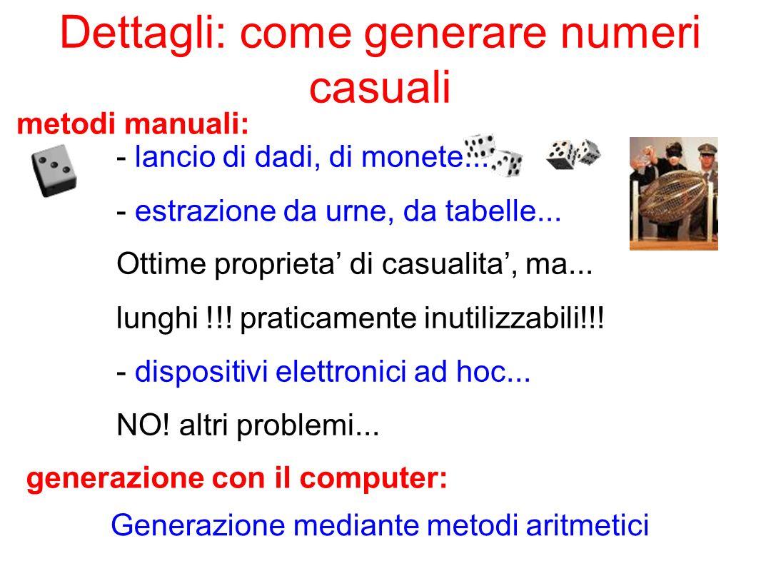 Dettagli: come generare numeri casuali