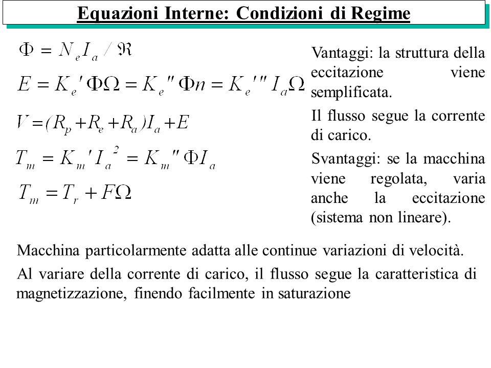Equazioni Interne: Condizioni di Regime