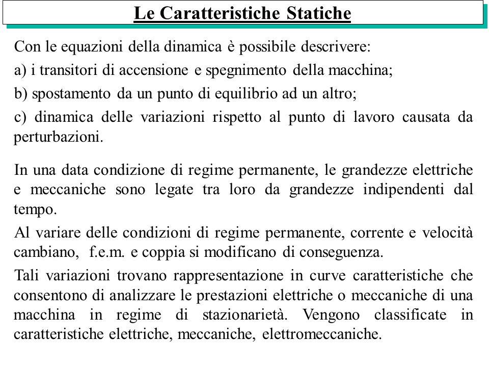 Le Caratteristiche Statiche