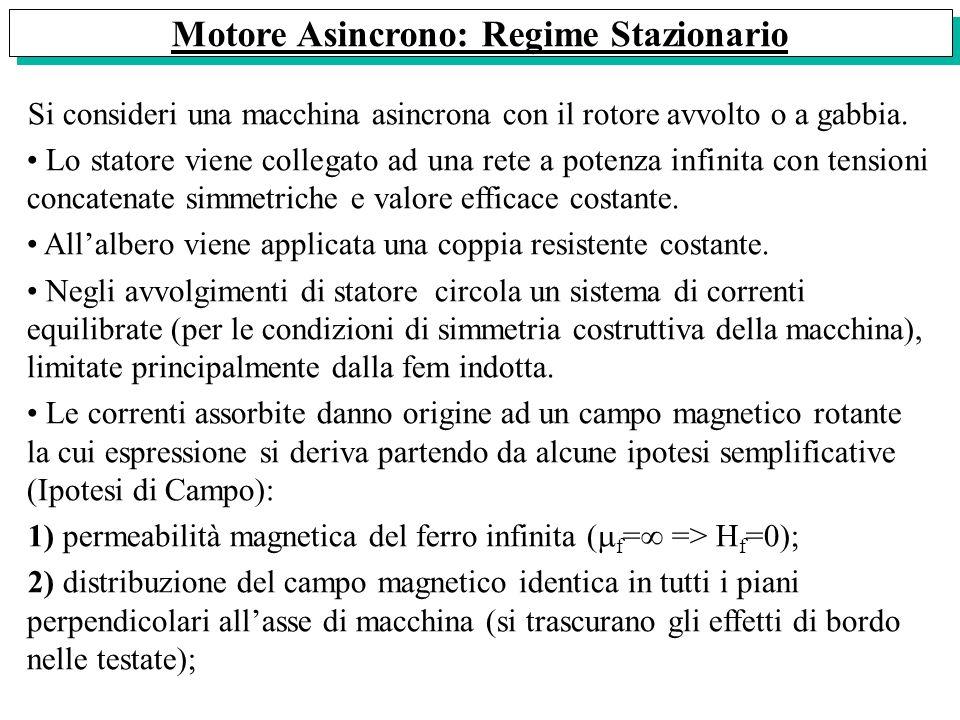 Motore Asincrono: Regime Stazionario