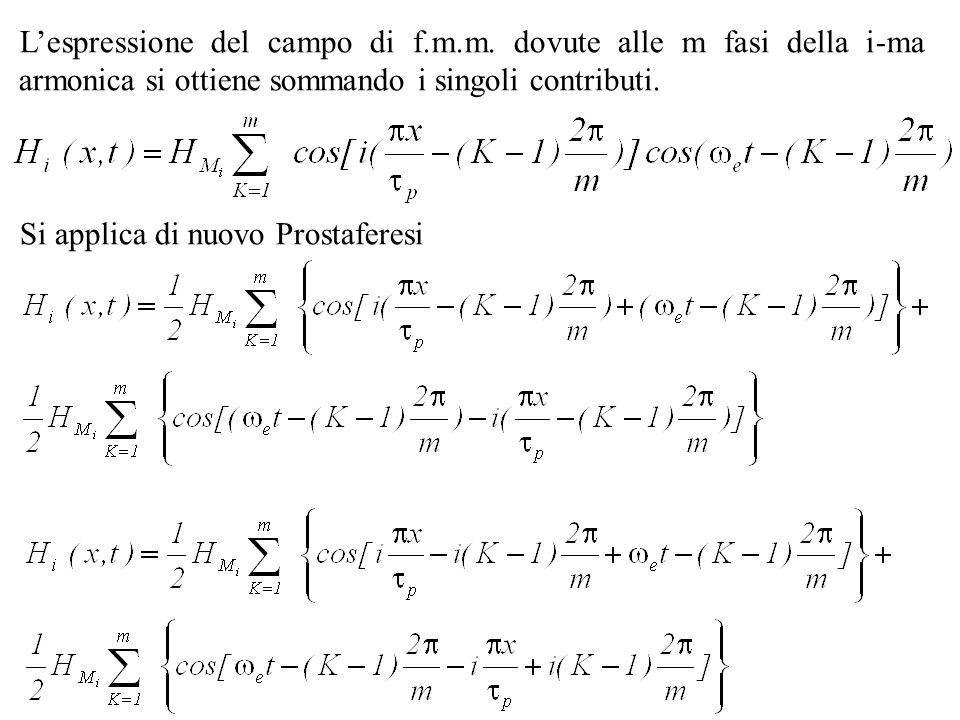 L'espressione del campo di f. m. m