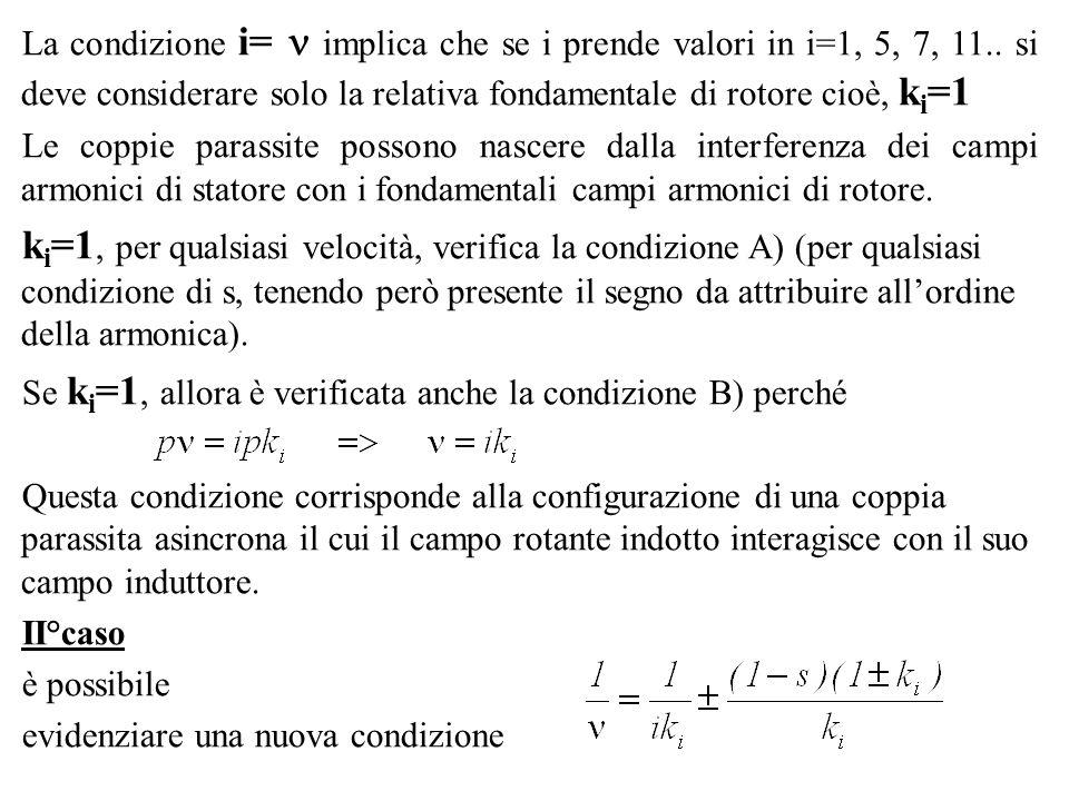 La condizione i=  implica che se i prende valori in i=1, 5, 7, 11