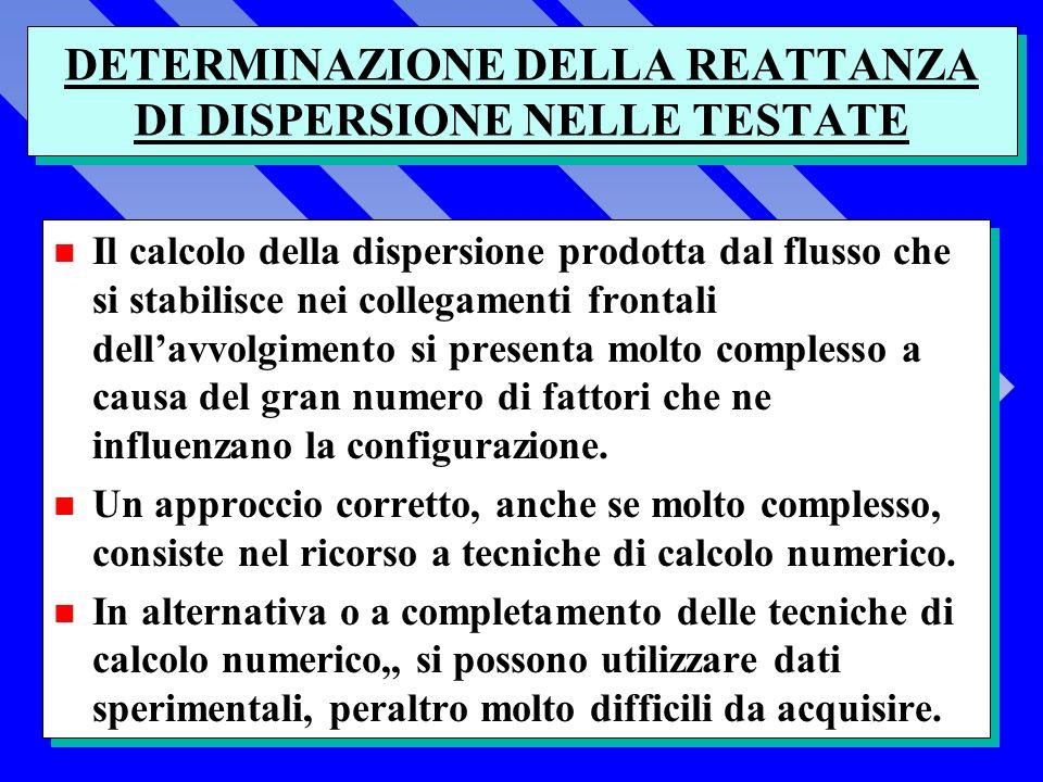 DETERMINAZIONE DELLA REATTANZA DI DISPERSIONE NELLE TESTATE