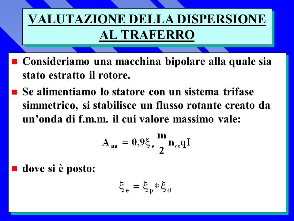 VALUTAZIONE DELLA DISPERSIONE AL TRAFERRO