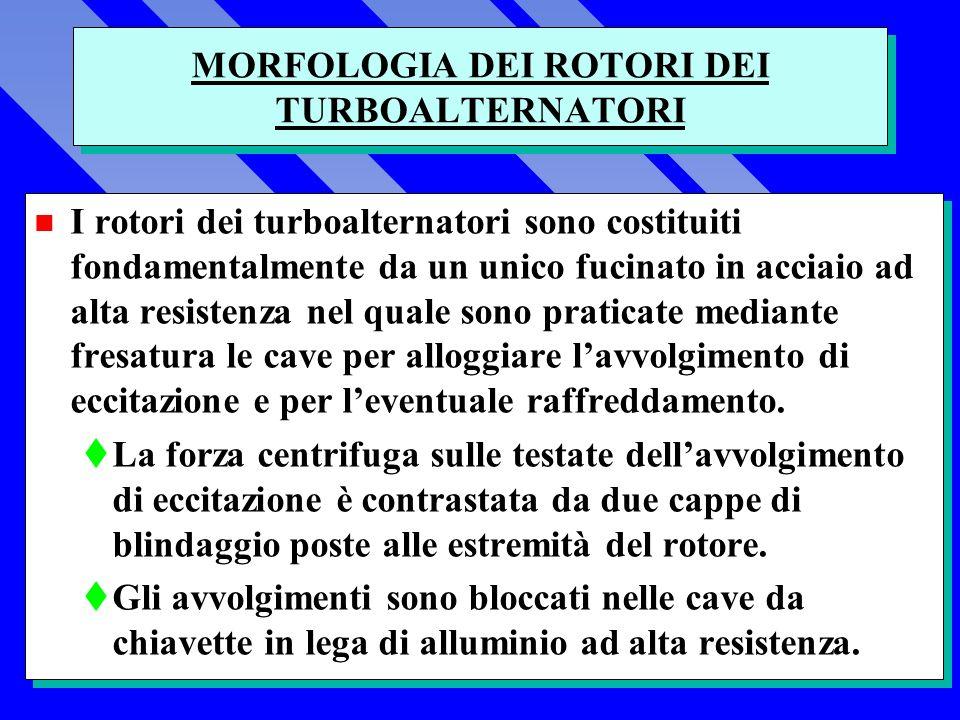 MORFOLOGIA DEI ROTORI DEI TURBOALTERNATORI