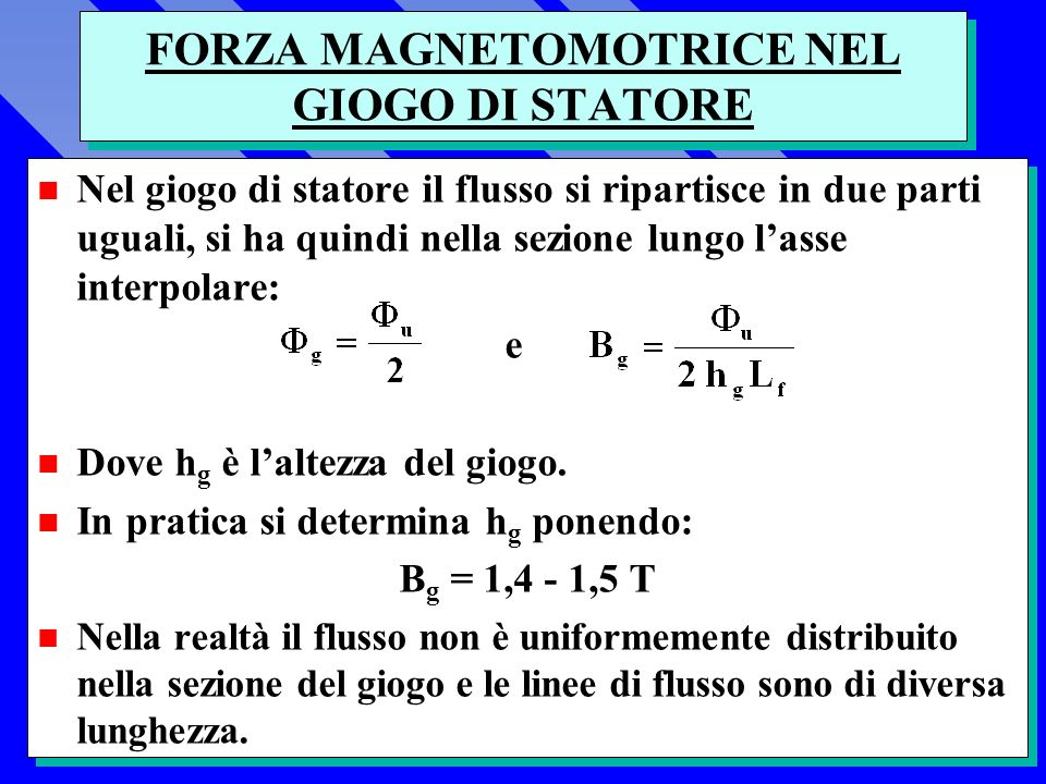 FORZA MAGNETOMOTRICE NEL GIOGO DI STATORE