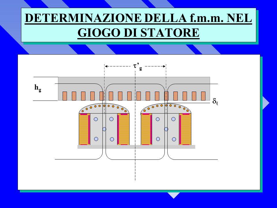 DETERMINAZIONE DELLA f.m.m. NEL GIOGO DI STATORE