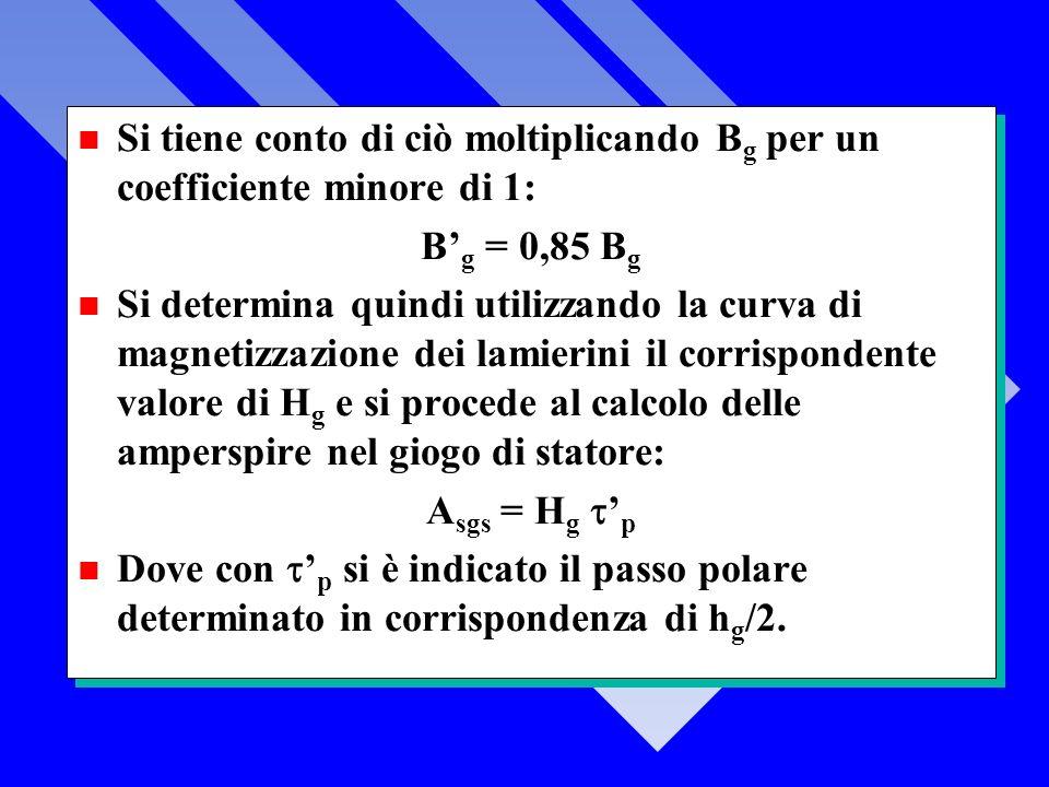 Si tiene conto di ciò moltiplicando Bg per un coefficiente minore di 1: