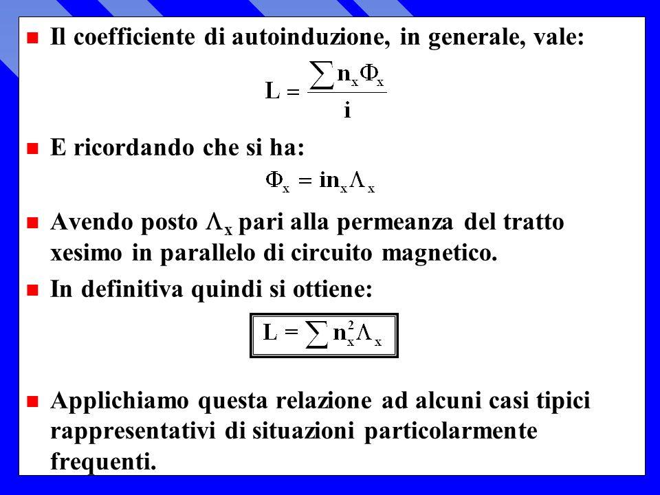 Il coefficiente di autoinduzione, in generale, vale: