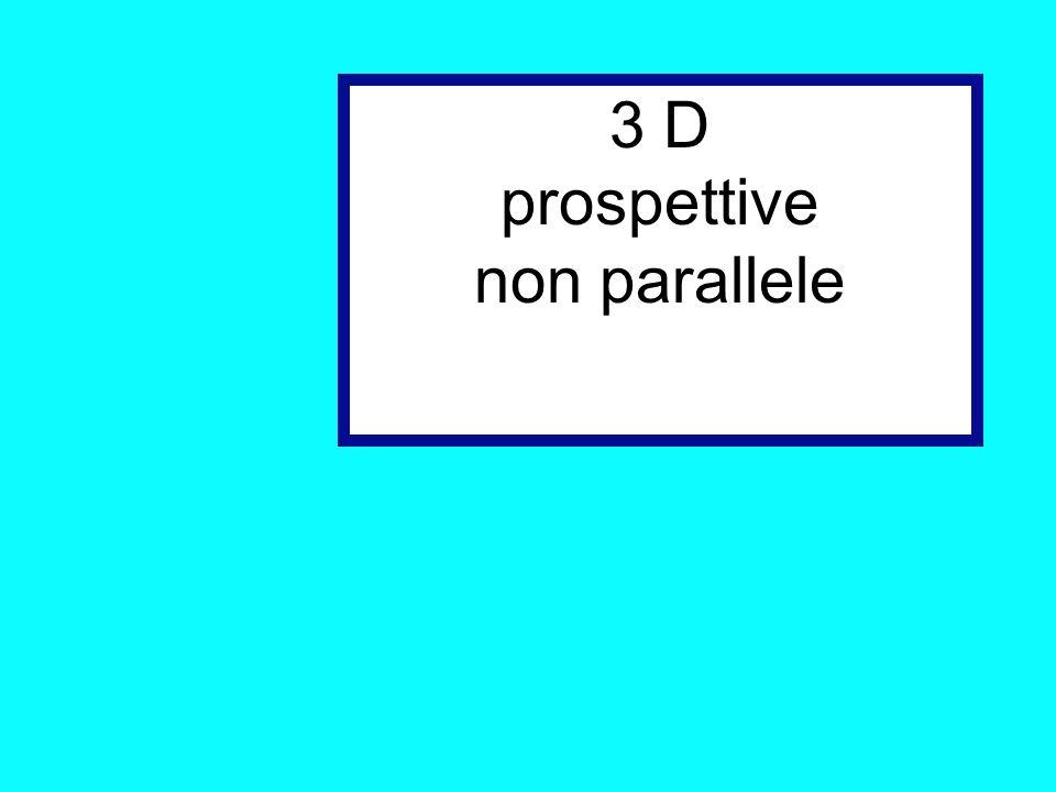 3 D prospettive non parallele