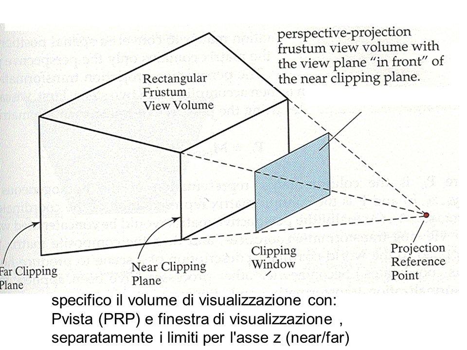 specifico il volume di visualizzazione con:
