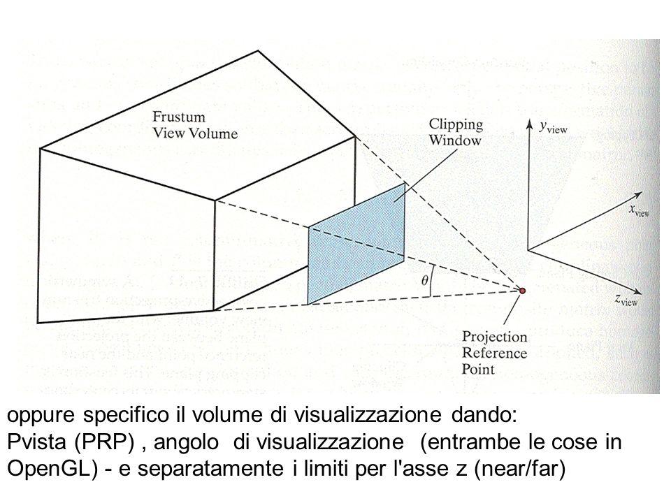 oppure specifico il volume di visualizzazione dando: