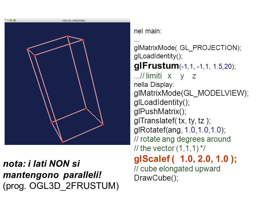 glFrustum(-1,1, -1,1, 1.5,20); glScalef ( 1.0, 2.0, 1.0 );