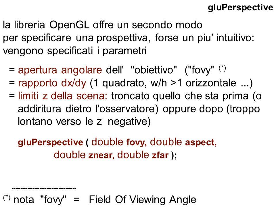 la libreria OpenGL offre un secondo modo