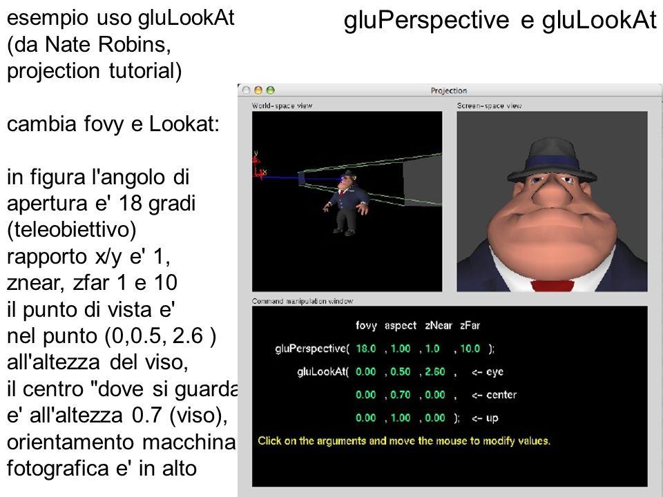gluPerspective e gluLookAt