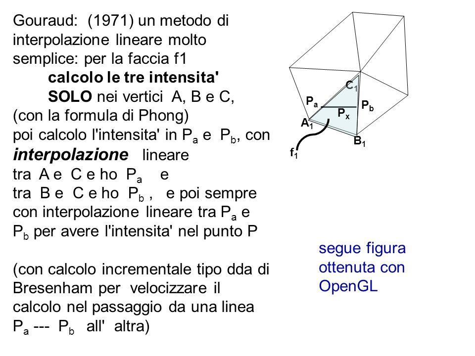 calcolo le tre intensita SOLO nei vertici A, B e C,