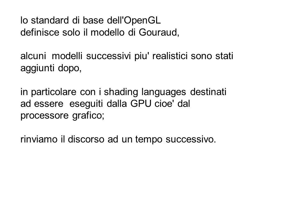 lo standard di base dell OpenGL
