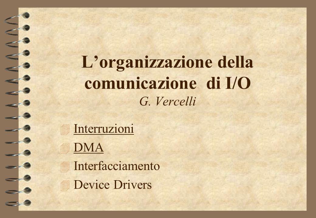 L'organizzazione della comunicazione di I/O G. Vercelli