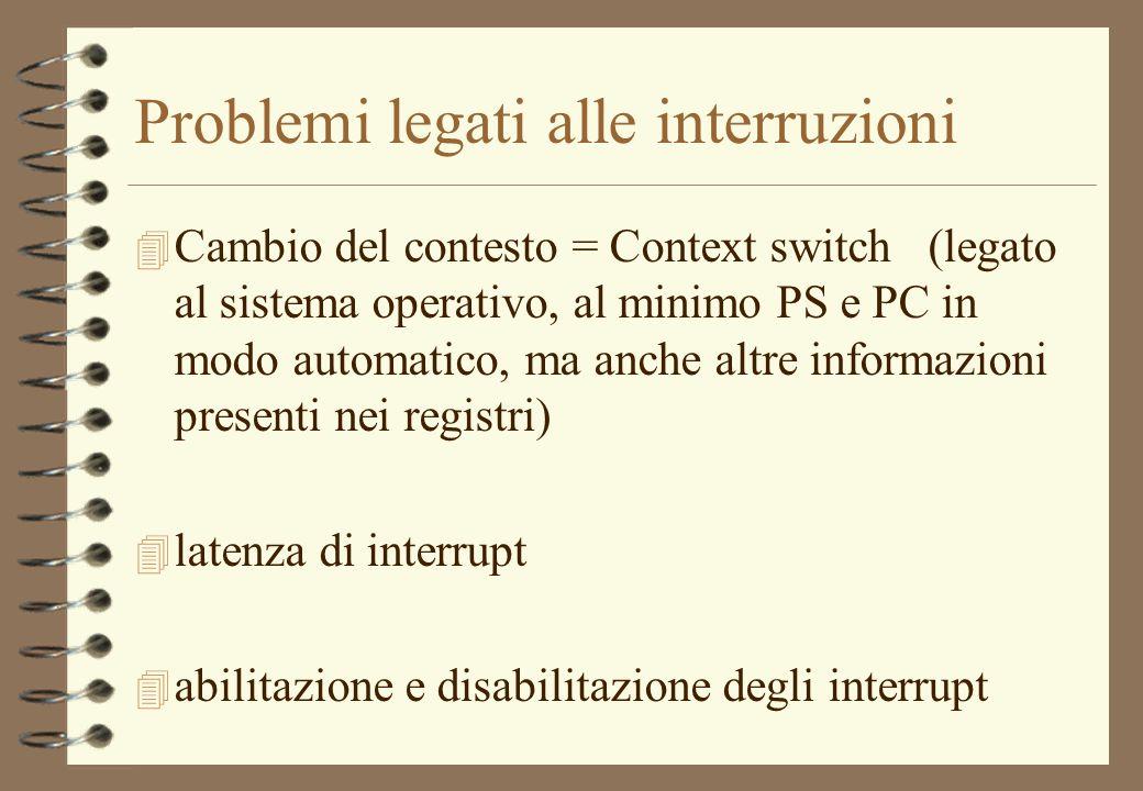Problemi legati alle interruzioni