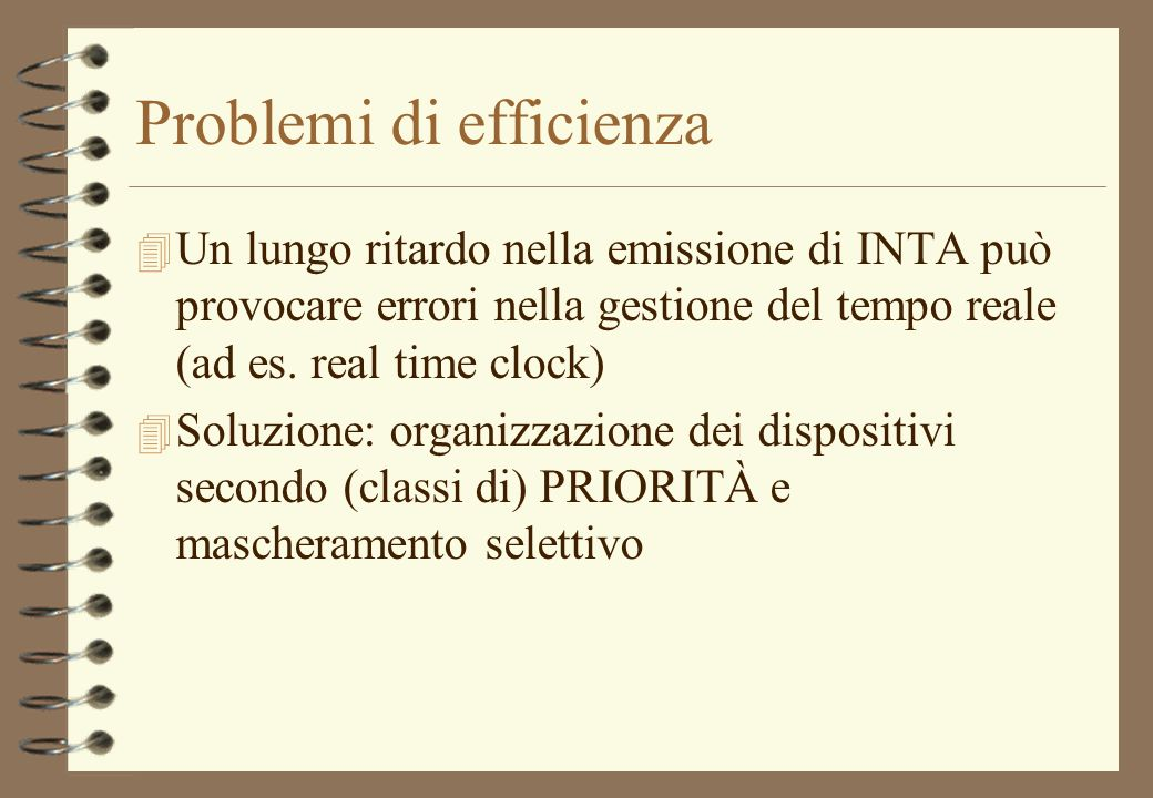 Problemi di efficienza