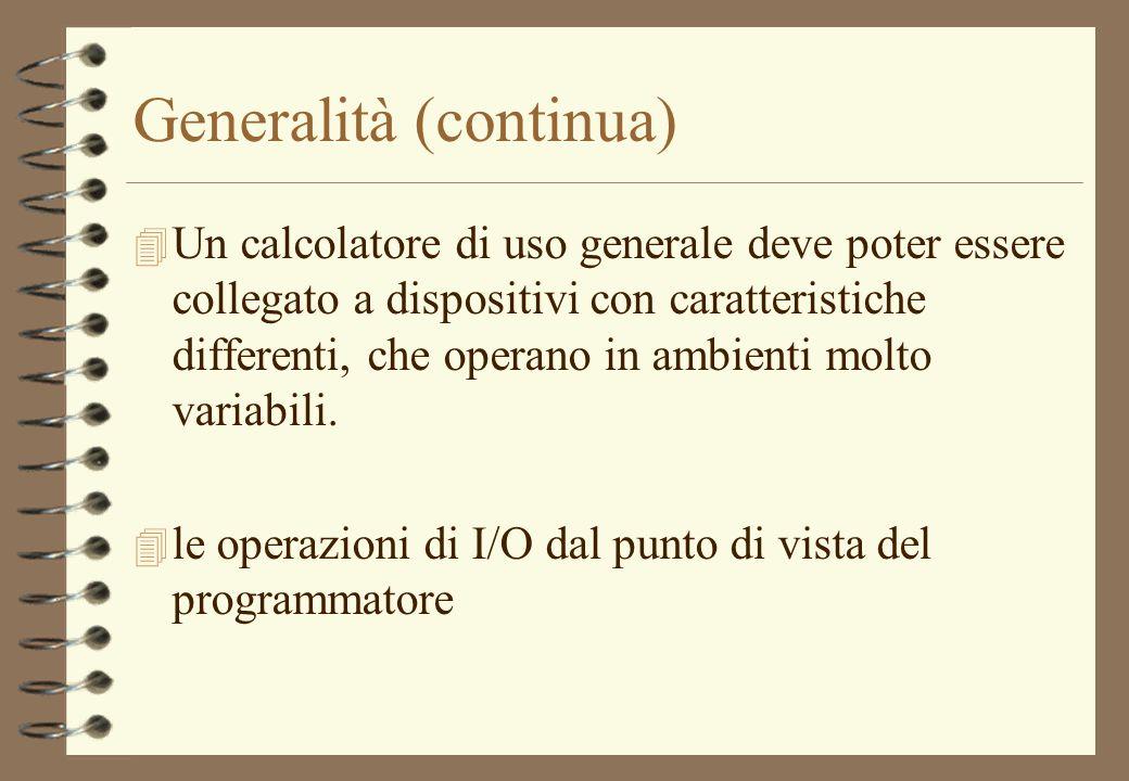 Generalità (continua)