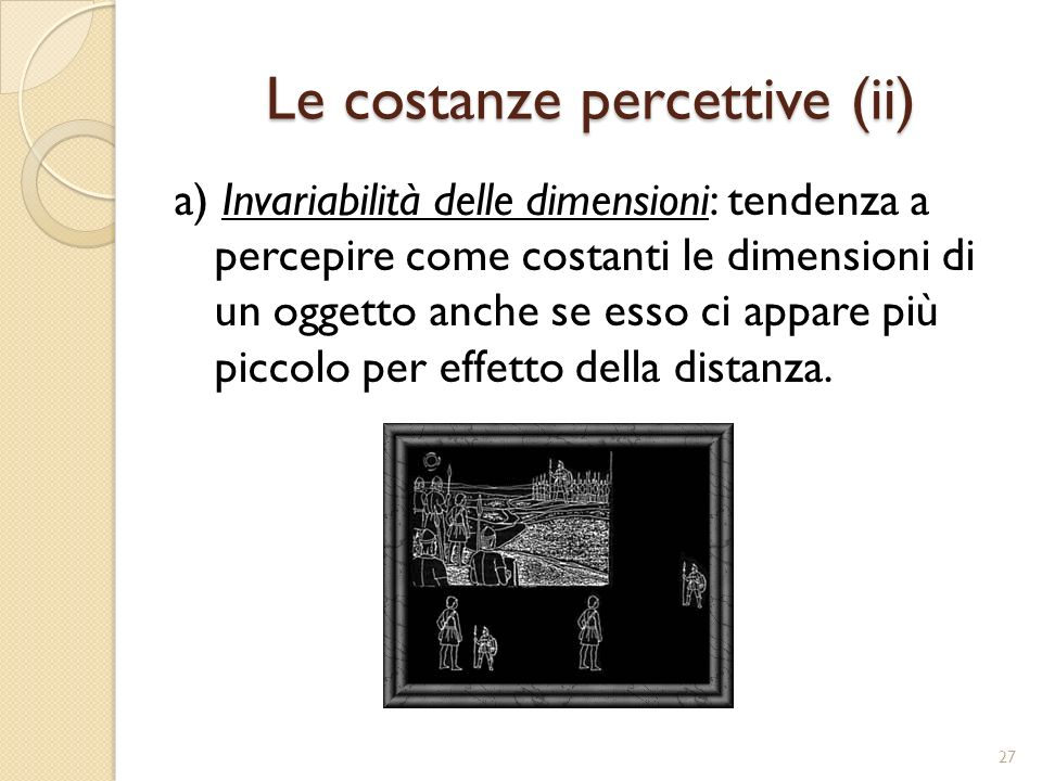 Le costanze percettive (ii)