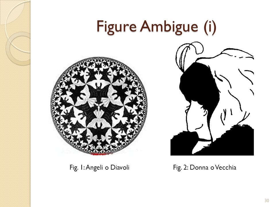 Figure Ambigue (i) Fig. 1: Angeli o Diavoli Fig. 2: Donna o Vecchia