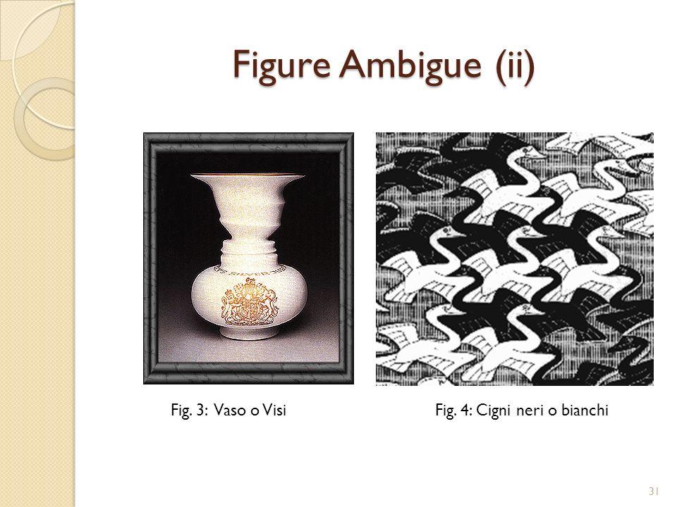 Figure Ambigue (ii) Fig. 3: Vaso o Visi Fig. 4: Cigni neri o bianchi