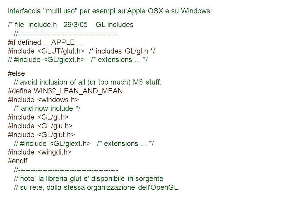 interfaccia multi uso per esempi su Apple OSX e su Windows: