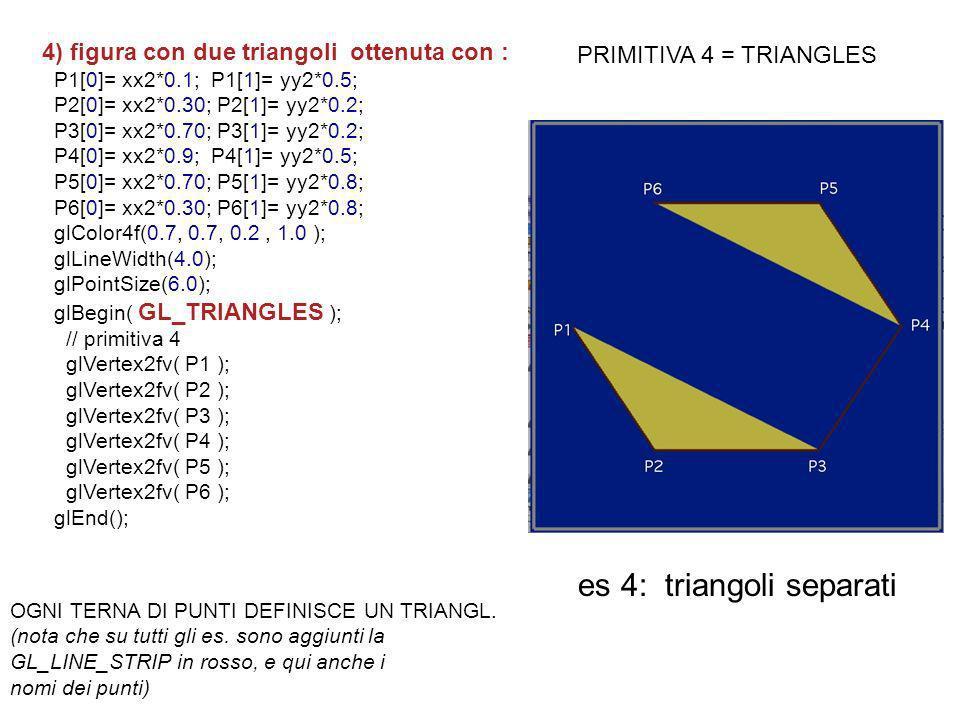 es 4: triangoli separati