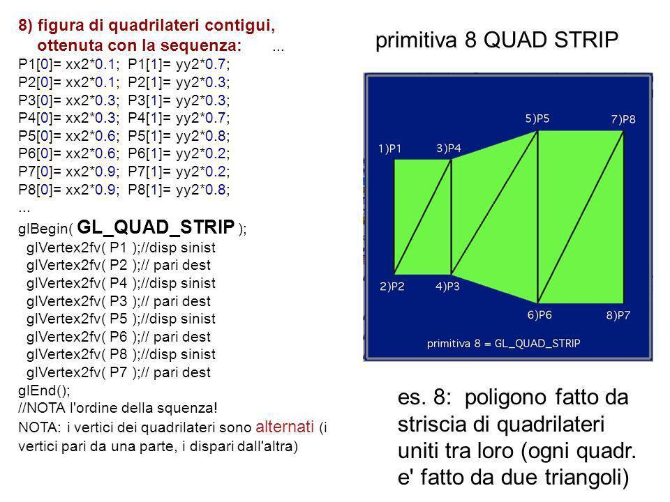 8) figura di quadrilateri contigui,