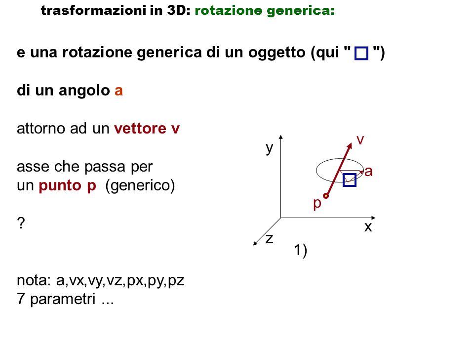 e una rotazione generica di un oggetto (qui ) di un angolo a